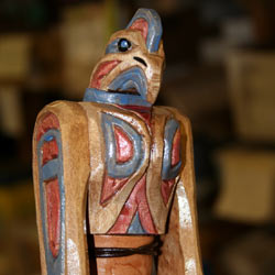 Special Walking Stick Top of Totem Pole Eagle created for my local Scoutmaster